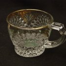 EAPG U.S. Glass 1908 Rising Sun Gold and Green Stain Custard Cup