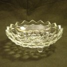 Fostoria American Pattern Crystal 3 Footed Bon-Bon Candy Dish