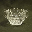 Fostoria American Pattern Crystal Open Sugar Bowl