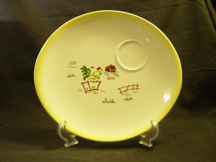 Brock of California Pottery Farmhouse Yellow Snack Plate