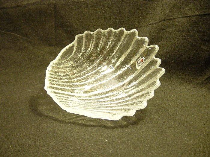 Pilgrim Glass Crystal Seashell Bon-Bon Candy Dish