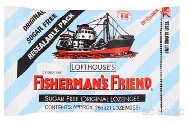 Original Sugar Free Lofthouse Fisherman's Friend x 4 Packs