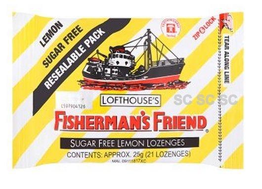 Lemon Sugar Free Lofthouse Fisherman's Friend x 4 Packs