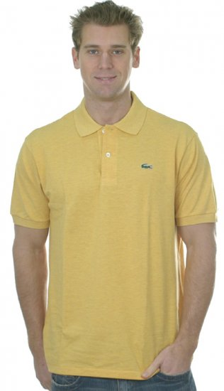NWT Authentic Lacoste Pique Polo - Sz. 5 (Med) Light Yellow