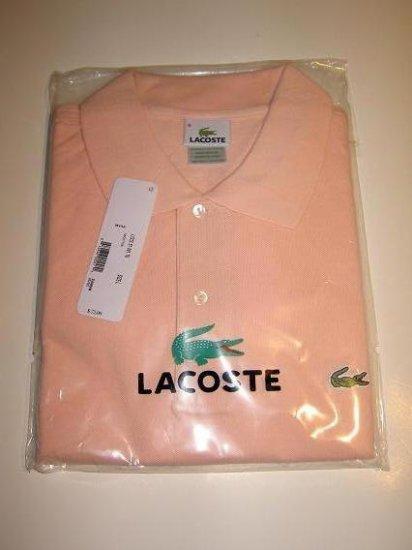 NWT Authentic Lacoste Pique Polo - Sz. 8 (XXL) Light Pink