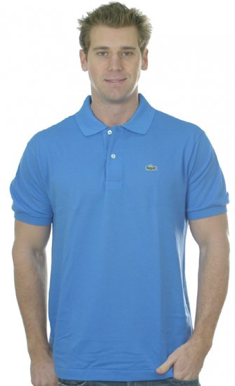 NWT Authentic Lacoste Pique Polo - Sz. 5 (Med) Blue