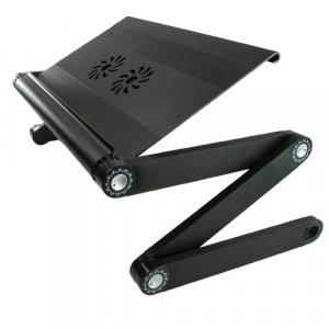 Portable Adjustable Laptop Desk with USB Cooling Fan