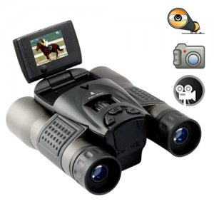Digital Binoculars with LCD Flip Screen