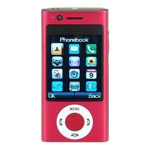 Unlocked Quad-band Dual Sim Standby Cell Phone, Red