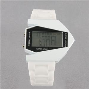 Plane Shaped Wrist Watch, White