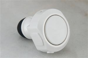 Earplug Bluetooth Headset, White