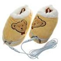 USB Powered plush Foot Warmer, Brown