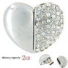 Crystal Heart USB Drive, 2GB