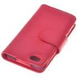 PU Case for iPhone 4, Red