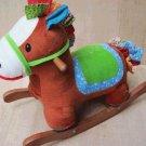cock horse&brown horse