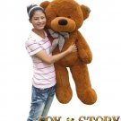 teddy bear  &free shipping&1.2m&dark brown