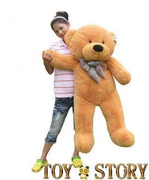 teddy bear  &free shipping&1.2m&light brown