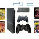 Slim Sony Playstation 2 &quot;Gamers Paradise Bundle&quot; - 10 Games, DVD Movie + 2 Controllers