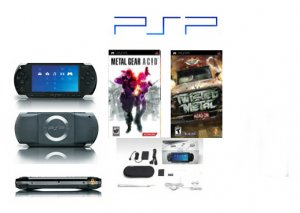 "Sony PSP ""Metal Gear Value Pack"" - 2 Games, UMD Sampler Pack + Extra Accessories"