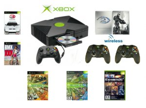 """Xbox """"Halo2 Limted Edition"""" Bundle - 6 Games + 2 Wireless Controllers"""