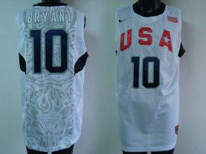 Kobe Bryant White Olympic Jersey