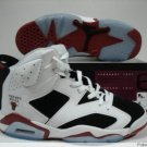 White,Black,and Red Air Jordan VI