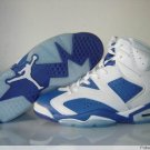 White and Blue Air Jordan VI