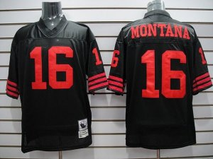 Joe Montana Black and Red Jersey
