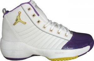 Purple, White, and Yellow Air Jordan 19.5