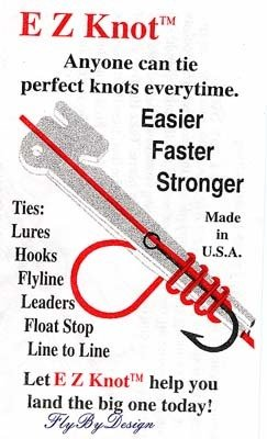 E Z Knot Tying Tool for Fishing - Hooks, Lures, Flyline