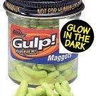 Berkley Gulp Chartreuse Glowing Maggots - Three Pack