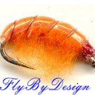 Orange Scud Fly Fishing Nymphs - Twelve Hook Size 16