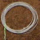 Furled 5' Green Fluorocarbon Leader 8 Lb + Ring 5-7 wt