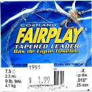 Cortland Fairplay 1x (9 Lb test) 7.5' Tapered Leader