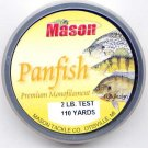Mason Premium 2 Lb Monofilament Panfish Fishing Line
