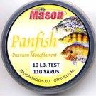 Mason Premium 10 Lb Monofilament Panfish Fishing Line