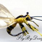 Realistic Fly Fishing Flies - Six Yellow Jacket Bees