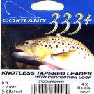 Cortland 9'-4x (5.2 Lb test) 333+ Tapered Leader w/Loop