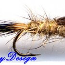 Gold Ribbed Hares Ear Nymph 12 -  Size 20 Fishing Flies