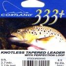 Cortland 9'-6x (2.7 Lb test) 333+ Tapered Leader w/Loop