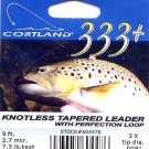 Cortland 9'-3x (7.3 Lb test) 333+ Tapered Leader w/Loop