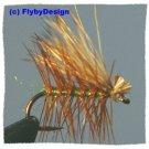 Olive Elk Hair Caddis Dry Fly Twelve Size 16 Fish Flies