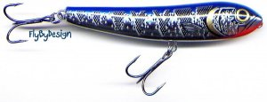 "Storm 3-1/2"" Metal Silver/Blue ThunderDog Topwater Lure"