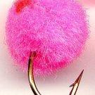 GloBug Round PINK Egg Fly Twelve Size 10 Fishing Flies