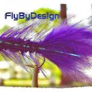 Purple Woolly Bugger Fishing Flies - Twelve Hook Size 8