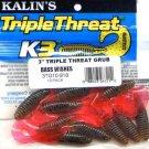 "Kalin's 3"" Bass Wishes Triple Threat Grubs - 10 pak"