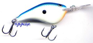Rapala Balsa Blue Shad Rattle VMC Flat Lure to 7 Feet