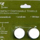 Eight Compact Disposable Biodegradable Rayon Towels
