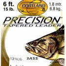 Cortland 15 Lb test 6Ft Precision Bass Tapered Leader