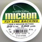 Cortland Micron Yellow Fly Line Backing - 20 LB 100 YDS